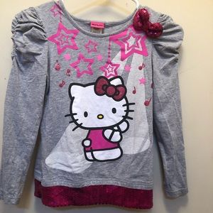 ❤️Hello Kitty❤️ Cinched sleeves sequins on shirt